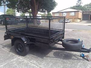 7x4 heavy duty trailer with 600mm mesh cage Mortdale Hurstville Area Preview
