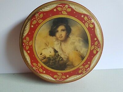 Peek Frean and Co Biscuit Cookie 8 Inch Tin Vintage