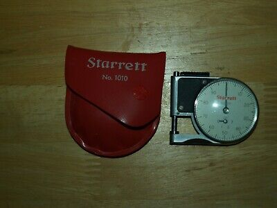 Starrett No.1010 Dial Indicator Pocket Gage Wcase