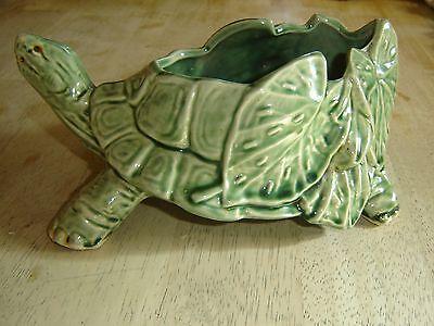 Green Turtle Figurine Planter McCoy Pottery USA