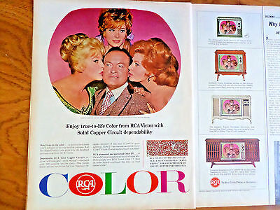 1965 RCA TV Television Ad  Bob Hope with Maxwell St John Fleming