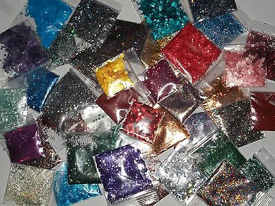 Bag Of Glitter (20 Bags of Assorted Solvent Resistant Glitter polish nail art lot mix grab)