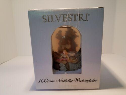 Vintage Silvestri 100mm Nativity Water Globe Silent Night