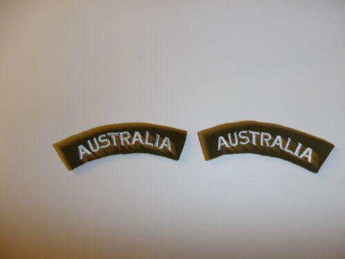 e1664 WW2 Australia Army Shoulder tabs pair battle dress overcoat R21B2