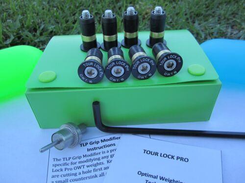 Tour Lock Pro 8-Counter Balance Wt.(Black 16g) for Iron set/Wedge w/Tools/Manual