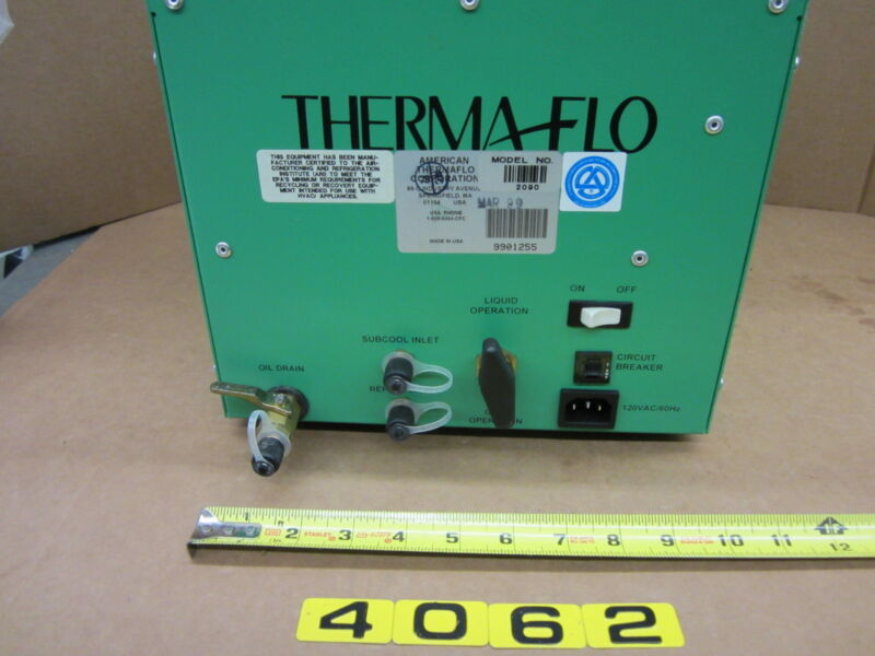 THERMA-FLO 2090 RECOVERY UNIT
