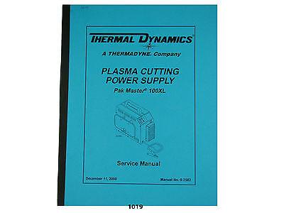 Thermal Dynamics Pakmaster 100xl Plasma Cutter Service Manual 1019