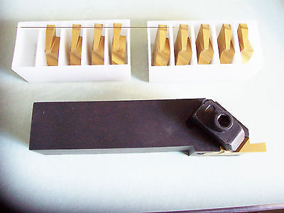 New - Fnsl-205d 1-14 Top Notch Grooving Holder Left Hand With 10 Pcs Insert