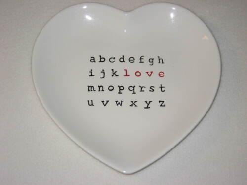 Pottery Barn Valentine Heart Crossword LOVE Plate