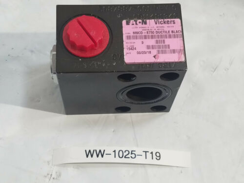 New Eaton Vickers Hydraulic Valve Manifold  MSCD-8750 DUCTILE BLACK