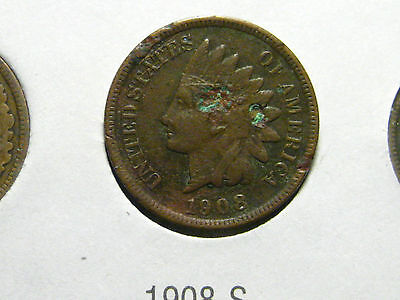 1908 S INDIAN HEAD CENTS                                                  18TH