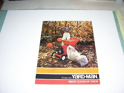 1980 Yard-man Sweeper Vacuum Shredder Chipper Log Splitter Sales Brochure Specs