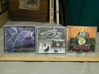 Monster's Halloween Dance Music (Monster Mash Rock & Roll Party + Dance Party + Sounds {CDs x 3} Halloween)