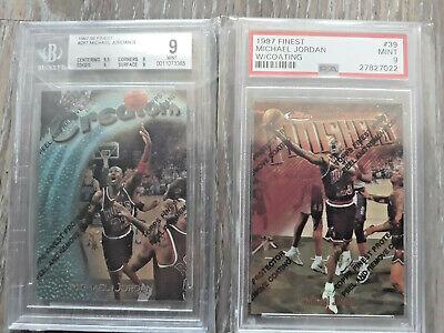 97-98 Topps Finest Michael Jordan Creators Silver Finishers Bronze Graded MINT!