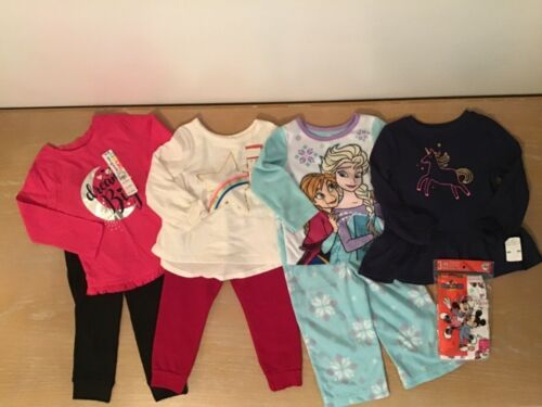 New! Toddler Girls Cat & Jack, Disney And Others Lot Of 7 Size 2t