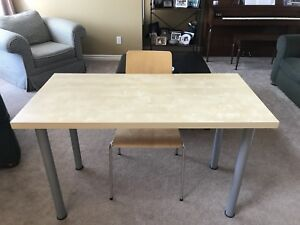 Ikea Wooden Desk and Chair