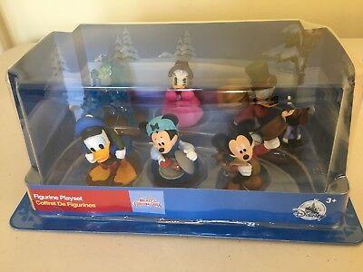 NEW Disney Store Mickey Christmas Carol 6 Piece Figure Set Figurines Cake Topper ()