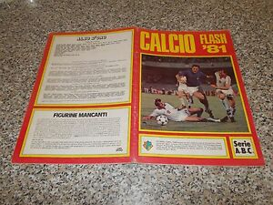 ALBUM-CALCIO-FLASH-81-COMPLETO-19-FIG-OTTIMO-TIPO-CALCIATORI-PANINI-LAMPO-EDIS