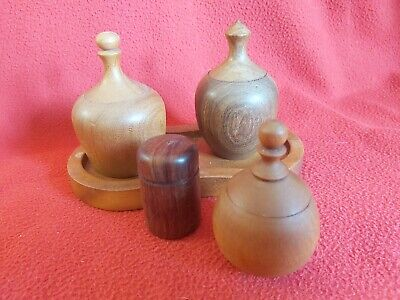 Hand Made Wooden Containers, Small Items, Natural Woods