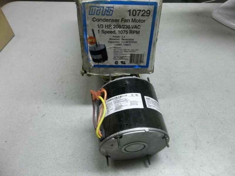 NEW Mars Condenser Fan Motor 10729, Single Speed *FREE SHIPPING*