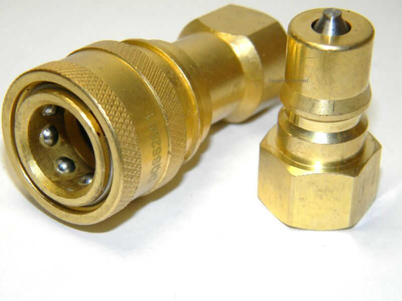 "Carpet Cleaning 1/4"" Brass M/F QD for Wands Hoses"