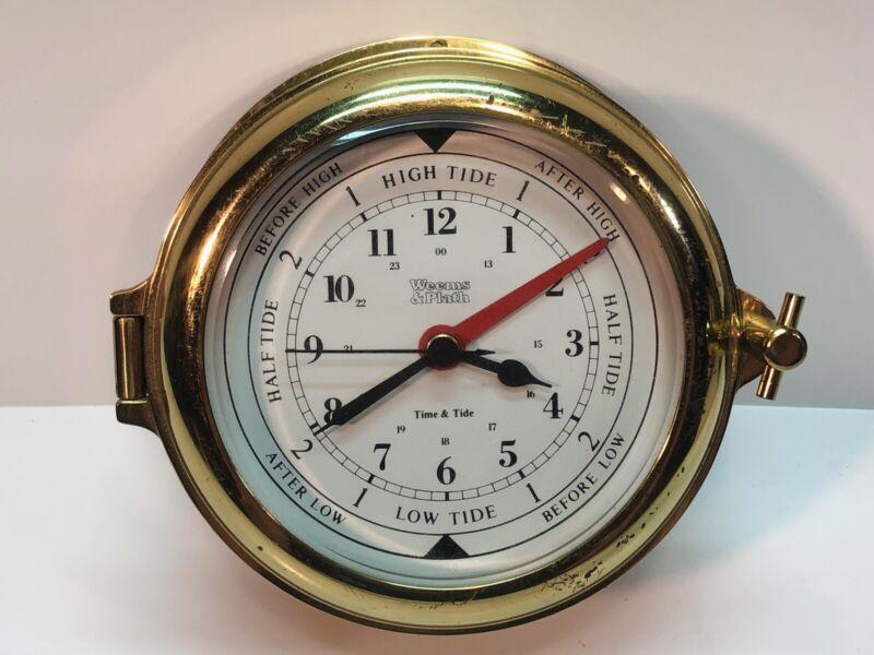 Vintage Weems & Plath Time And Tide Clock Quartz  Germany