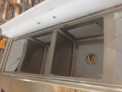 Nsf 2 Compartment Sink W Right Drainboard 30x77 Bowl Size 24x24