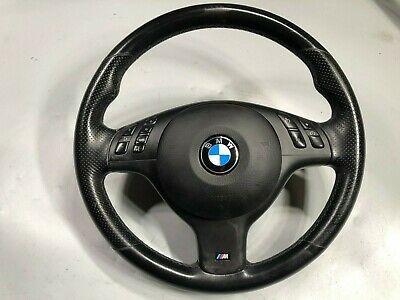 01-06 BMW 330CI ZHP RARE LEATHER SPORT Steering Wheel E46 M3 MANUAL W BAG