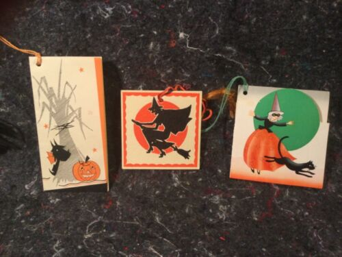 VINTAGE HALLOWEEN 3 TALLY CARDS AC CO BUZZA UNMARKED ALL UNSED NEAR MINT
