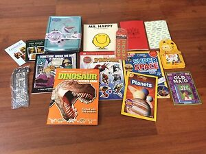 Selling lot of BRAND NEW books/stickers/bookmarks/cards etc