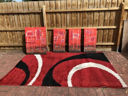 Rug & paintings - jazz up your lounge room!