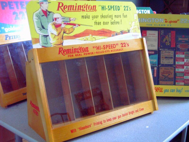 Remington or Peters merchandisers 22 ammo display case