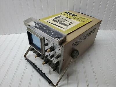 Vintage Bk Precision 15mhz Dual-trace Analog Oscilloscope With Probe And Manual