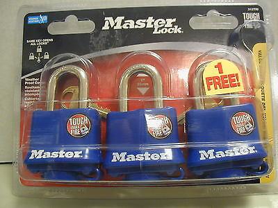 Master Pad Lock Keyed Alike Padlocks 3 - Weather Proof Cover - Model 312