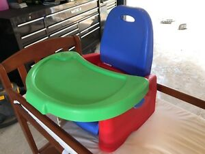 Various baby items - change table, booster seat