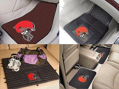 Cleveland Browns NFL Vinyl Carpet Rubber Car Truck Auto SUV Floor Cargo Mats (Cleveland Browns Nfl Carpet)