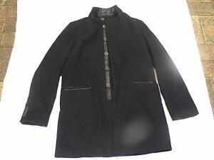 Black Italian Men's coat, Luigi Spago, Size M Auchenflower Brisbane North West Preview
