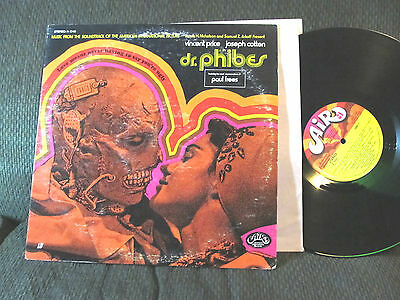BASIL KIRCHIN Dr. Phibes RARE 1971 OST soundtrack LP paul frees cult horror orig