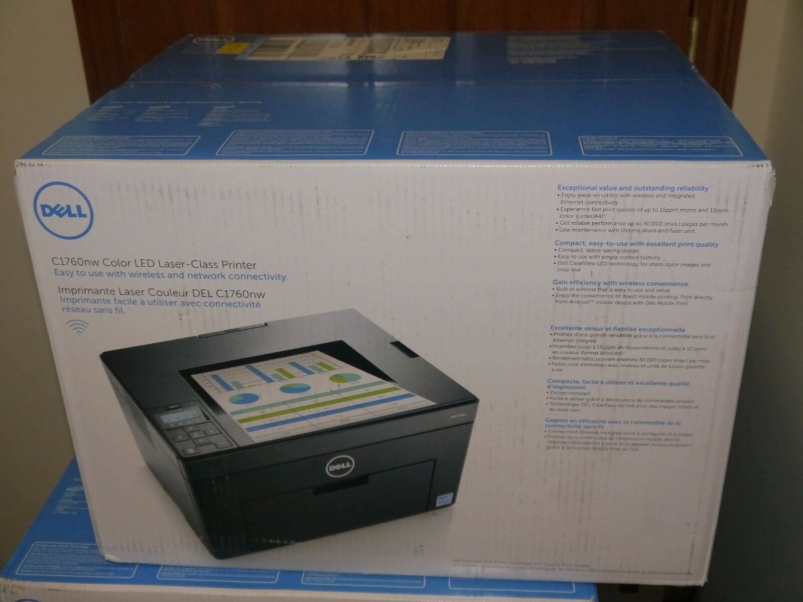 Color art printing anchorage - Brand New Dell C1760nw Color Led Laser Workgroup Wireless Printer