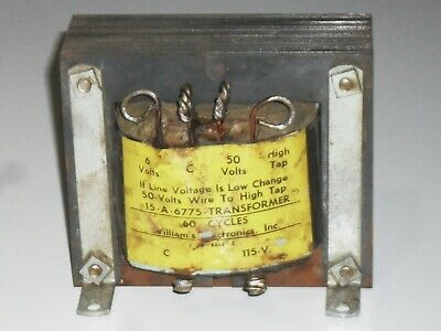 Williams Electronic Power Transformer 6 And 50 Volt Secondary