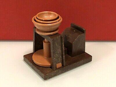 Playmobil medieval artesano torno alfarero cerámica