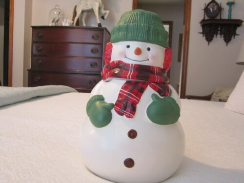 HALLMARK Snowman Cookie Jar - Matte Finish