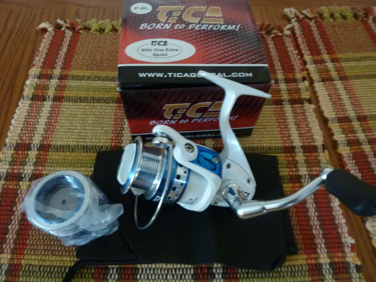 TICA  GH2500 spinning reel NEW, EXTRA SPOOL