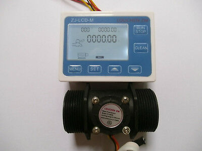New 1.5 Flow Water Sensor Meterdigital Lcd Display Control 5-150lmin