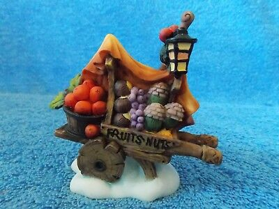 Christmas Village Fruits & Nuts Cart Accessory