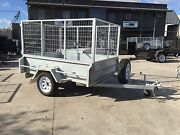 """7x5 Galvanised Cage Trailer - 16"""" High Sides, 3ft Cage, 750kg GVM Thomastown Whittlesea Area Preview"""