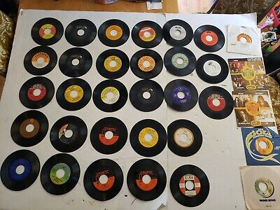 Lot of 45's Estate Sale Find 33 Loose Records - ABBA Oldies 1970's 1950's