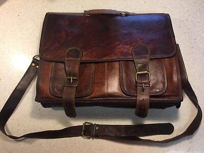 Men's Vintage Canvas Leather Messenger Bag SLR DSLR Digital Camera Bag Best