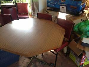 Round Dining Table and 6 Padded Chairs Dubbo Dubbo Area Preview