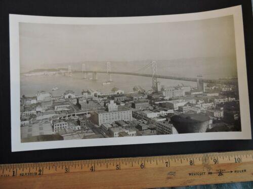 "Orig 1935 Bay Bridge San Francisco California CA 5.5x9.5"" Photo"